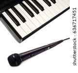 piano keyboard with white and... | Shutterstock . vector #636717451