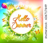 summer.  | Shutterstock .eps vector #636717649