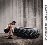 workout with a big tire | Shutterstock . vector #636722995