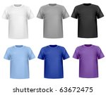 black and white men polo shirts ... | Shutterstock .eps vector #63672475
