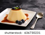 Cream Pudding With Caramel...