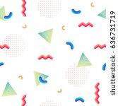 trendy neo memphis background....   Shutterstock .eps vector #636731719