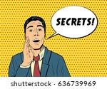 vector business man telling... | Shutterstock .eps vector #636739969