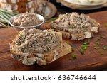 healthy wholegrain bread... | Shutterstock . vector #636746644