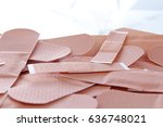 Small photo of Adhesive plasters as background. Medical adhesive plaster pattern texture wallpaper for every concept.