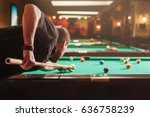man trying to hit the ball in... | Shutterstock . vector #636758239