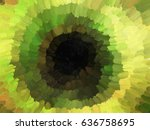 concentric abstract oil...   Shutterstock . vector #636758695