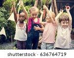 school student tour is a good...   Shutterstock . vector #636764719