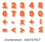 numbers and mathematical symbols | Shutterstock .eps vector #636767017