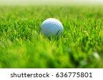 golf ball on green grass of... | Shutterstock . vector #636775801