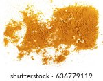Turmeric Powder Isolated On...