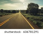 vintage toned highway with... | Shutterstock . vector #636781291