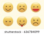 set of emoticons  icon pack ... | Shutterstock .eps vector #636784099
