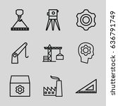 engineering icons set. set of 9 ... | Shutterstock .eps vector #636791749