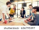 multi ethnic business person... | Shutterstock . vector #636795397