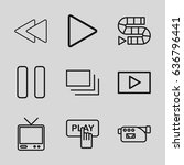 video icons set. set of 9 video ... | Shutterstock .eps vector #636796441