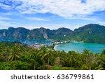 phi phi island   krabi thailand ... | Shutterstock . vector #636799861