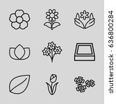 floral icons set.     Shutterstock .eps vector #636800284