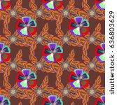 textile print for bed linen ...   Shutterstock . vector #636803629