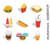 vector illustration. set of web ... | Shutterstock .eps vector #636804439