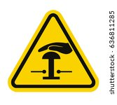 emergency stop sign | Shutterstock .eps vector #636811285