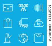 balance icons set. set of 9... | Shutterstock .eps vector #636815701