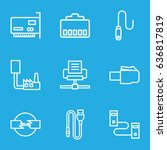 connector icons set. set of 9...   Shutterstock .eps vector #636817819