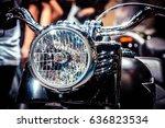 vintage classic motorcycle... | Shutterstock . vector #636823534