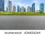 empty asphalt road front of... | Shutterstock . vector #636826264