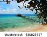 perfect jetty on tioman island... | Shutterstock . vector #636829537