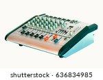 mixer for broadcast audio... | Shutterstock . vector #636834985