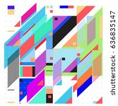 abstract colorful geometric... | Shutterstock .eps vector #636835147