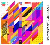 abstract colorful geometric... | Shutterstock .eps vector #636835231