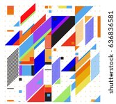 abstract colorful geometric... | Shutterstock .eps vector #636836581