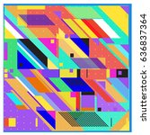 abstract colorful geometric... | Shutterstock .eps vector #636837364