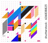 abstract colorful geometric... | Shutterstock .eps vector #636838825