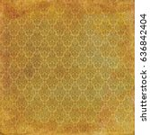 gold damask background wallpaper | Shutterstock . vector #636842404
