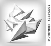 volume geometric shape  3d... | Shutterstock .eps vector #636843031