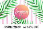summer sale design layout for... | Shutterstock .eps vector #636843601