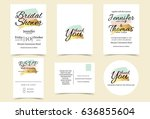wedding invitation card with... | Shutterstock .eps vector #636855604