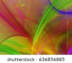 abstract fractal background 3d... | Shutterstock . vector #636856885