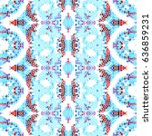 mosaic square colorful pattern... | Shutterstock . vector #636859231