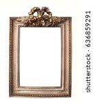 classic vintage gold frame... | Shutterstock . vector #636859291