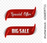 special offe rand big sale ... | Shutterstock .eps vector #636859711