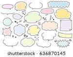 cute and hand painted speech...   Shutterstock .eps vector #636870145