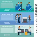 airport terminals banners.... | Shutterstock .eps vector #636870451