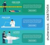 murder investigation banners.... | Shutterstock .eps vector #636870454