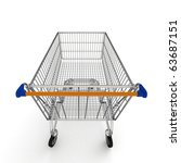 3d shopping cart isolated on... | Shutterstock . vector #63687151