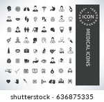 medical icon set clean vector | Shutterstock .eps vector #636875335