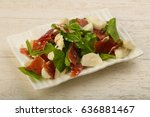 salad with proscuitto ... | Shutterstock . vector #636881467